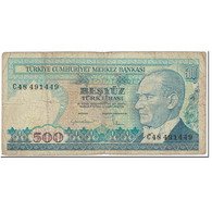 Billet, Turquie, 500 Lira, 1984-89, Undated (1984-89), KM:195, TB - Turchia