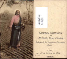 610545,Andachtsbild Heiligenbildchen Jesus Säht Am Feld Lima Peru - Andachtsbilder