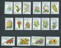 Trinidad & Tobago 1983 Flower Definitives Set 16 MNH - Trinidad & Tobago (1962-...)