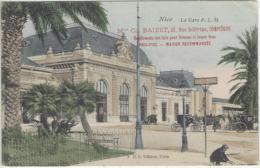 CPA Dept 06 NICE Gare Pub Maison BAIZET Compiegne - Autres