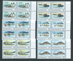 Ross Dependency 1982 Scott Base Anniversary Set 6 Matched Marginal Blocks Of 4 MNH - Unused Stamps