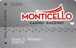 Monticello Gaming & Raceway - Monticello, NY USA - Silver Casino Slot Card - Casino Cards