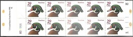 US  1991   Sc#BK175  Wood Duck Booklet Of 20 Red Print MNH  Face $5.80 - Booklets