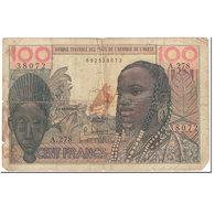 Billet, West African States, 100 Francs, 1966, Undated (1966), KM:2b, B - West African States