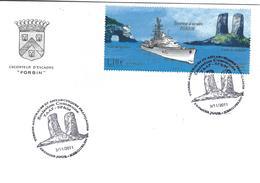 12972 Escorteur D'Escadre FORBIN - Enveloppe Premier Jour à KERGUELEN Le 3/11/2011 - Terres Australes Et Antarctiques Françaises (TAAF)