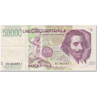 Billet, Italie, 50,000 Lire, 1995, Undated (1995), KM:116b, TTB - [ 2] 1946-… : République