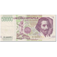 Billet, Italie, 50,000 Lire, 1995, Undated (1995), KM:116b, TTB - [ 2] 1946-… : Repubblica