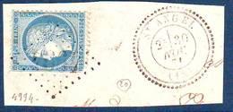 N° 60 Obl GC 4994  ... St ANGEL  Correze , Ind 20 = 450 Euro Sur Lettre  , RARE !!!! - Storia Postale