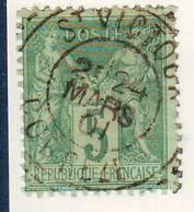 Sage Obl Cachet Type 84 De ST VICTOUR Correze - Marcophilie (Lettres)