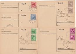 AUTRICHE SUR CPFM LETTRE 1945 RHEINAU HÖCHST X 5 AFFRANCHISSEMENTS DIFFERENTS - 1945-60 Lettres