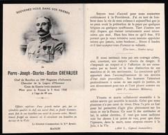 Mémento Décès - Pierre-Joseph Chevalier - 344ème Régiment D'Infanterie - 5/8/18 - Vianne (47) - Virly (Jouaignes 02) WWI - Obituary Notices