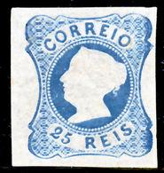 !■■■■■ds■■ Portugal 1863 Reprints AF#2 Qween Maria 25 Réis (d12430) - Neufs