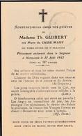 Faire-part De Décès - Mémento - Marie Guibert Née Du Casse Mady - Décédée Le 31 Août 1942 à Marmande (33) - Décès