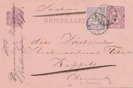 Niederlande: 1883: Ganzsache Rotterdam Nach Chemnitz - Niederlande