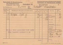 Österreich: 1943: Versandstelle Für Sammlermarken Berlin, Lieferschein - 1918-1945 1st Republic