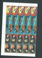 Lesotho 1981 Voyager & Columbia Space Missions Full Sheet Of 10 Strips Of 5 MNH - Lesotho (1966-...)