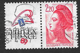 FRANCE  2461   Exposition Philatélique Philexfrance 89 Paris (avec Vignette Attenante)  . - France