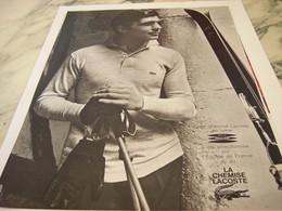 ANCIENNE PUBLICITE LA CHEMISE  LACOSTE  1964 - Vintage Clothes & Linen