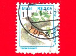 BRASILE - Usato - 1994 - Uccelli Brasiliani - Birds - Sabiá-Laranjeira - 0.05 - Brasile