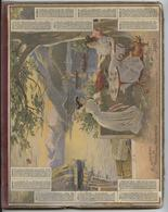 Almanach Des  Postes,1910, Coucher Soleil Lac De Côme, Militaria,organisation Militaire, 8 Pages,porte-document - Calendars