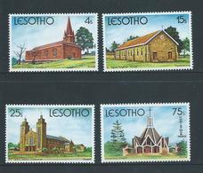 Lesotho 1980 Christmas Churches Set 4 MNH - Lesotho (1966-...)