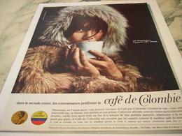 ANCIENNE PUBLICITE LES ESQUIMAUX  CAFE DE COLOMBIE 1964 - Affiches