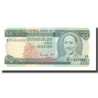 Billet, Barbados, 5 Dollars, Undated (1999), KM:55, NEUF - Barbades