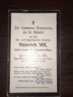 Sterbebild Wk1 Ww1 Bidprentje Avis Décès Deathcard IR17 ST. Laurent Blangy 9. November 1914 - 1914-18