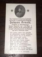 Sterbebild Wk1 Ww1 Bidprentje Avis Décès Deathcard IR1 PROYART Block 1 Grab 855 Aus Oberammergau - 1914-18