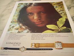 ANCIENNE PUBLICITE   MONTRE LONGINES 1964 - Joyas & Relojería