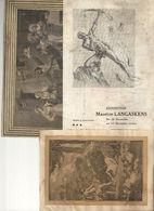 2 Gravures Collées Sur Papier Et Carton Et 1 Folder D'exposition De Peinture De Maurice Langaskens - Atelier De Schaerbe - Non Classés