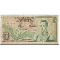 Billet, Colombie, 5 Pesos Oro, 1979, 1979-04-01, KM:406f, TB - Colombia