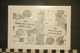 CP, FLORILEGe, N°5, Qui Donne Aux Pauvres Prete A Dieu, Humour - Monnaies (représentations)