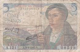 France - Billet De 5 Francs Type Berger - 5 Avril 1945 - 1871-1952 Circulated During XXth
