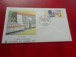 FRANCE (1991) Journée Du Timbre RIBERAC - FDC