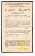 DP Charles Hallaert ° Vinkt Deinze 1868 † Langemark 1933 X Romanie Lannoy - Images Religieuses