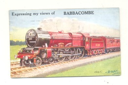 Expressing My Views Of BABBACOMBE, Carte à Système 6 Views - Train - 1931 (fr75) - Torquay