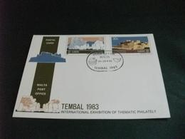 STORIA POSTALE CARTOLINA POSTALE ANNULLO MALTA  TEMBAL 1983 TEMA EUROPA - Malta