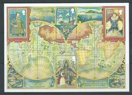 British Virgin Islands 1980 Francis Drake Ship World Circumnavigation Miniature Sheet MNH - British Virgin Islands