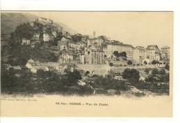 Carte Postale Ancienne Corté - Vue Générale - Corte