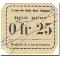 Billet, Algeria, 25 Centimes, 1916-1918, Undated (1916-18), SPL - Algérie