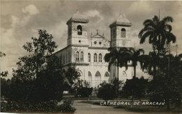 Cathedral De Aracajú. Alte AK S/w. Gel. 1932. Gebäudeansicht, Kirche, Kathedrale, Palmen - Ansichtskarten