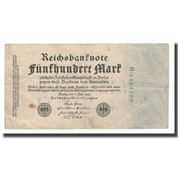 Billet, Allemagne, 500 Mark, 1922, 1922-07-07, KM:74b, TB - [ 3] 1918-1933 : Repubblica  Di Weimar