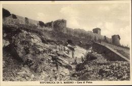 Cp San Marino, Cava Di Pietra, Stadtmauer - Saint-Marin