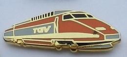 T78 Pin's TGV  SNCF Orange Qualité Arthus Signé Made In France Achat Immediat - TGV