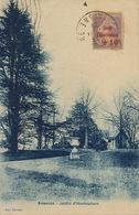 Carte Postale Soissons Jardin Horticulture Avec Timbre Semeuse Caisse Amortissement Club RECP Vers Cuba 1929 - Storia Postale
