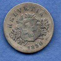 Suisse  - 20 Rappen 1850  -  état  B+ - Zwitserland