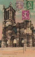 Carte Postale Troyes  Avec Timbre Semeuse Caisse Amortissement Club RECP Vers Cuba 1929 - Marcophilie (Lettres)