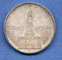 Allemagne   - 5 Reichsmark 1934 D  -  état TTB - [ 4] 1933-1945 : Third Reich