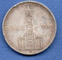 Allemagne   - 5 Reichsmark 1934 G  -  état TB  -  1 Coup Tranche - [ 4] 1933-1945: Drittes Reich